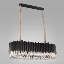 hotel modern living room luxury k9 crystal chandeliers pendant lights stainless steel led hanging lights
