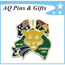 Consciência do metal do cuidado das le gravatas personalizadas Crachá do broche para o cuidado das leoas (badge-160)