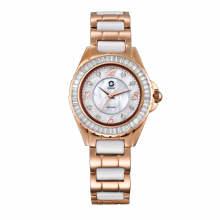 2017 reloj solar inoxidable y de cerámica de Badatong, relojes de señora, relojes del OEM