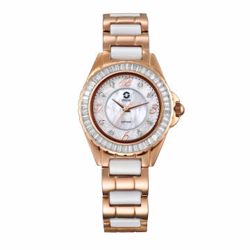 2017 Badatong Stainless and Ceramic Solar Watch, Lady Watches, OEM Watches