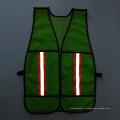 Veste de sécurité réfléchissante en treillis en polys vert avec ruban adhésif réfléchissant