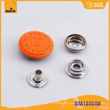 Botón de presión grabado de metal personalizado BM10808