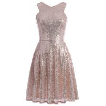 Kate Kasin Stunning Sequined Sleeveless V-Neck Cocktail Party Dress KK001065-1