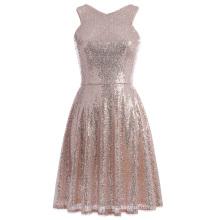 Катя Касин потрясающие блестками рукавов V-образным вырезом коктейль платье KK001065-1