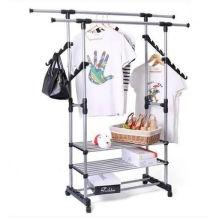 Cremalheira de aço multifuncional vestuário Display Stand roupas penduradas prateleira (GDS-065)