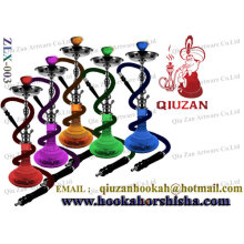 Fashion Designing Big Colored Translucent Heavy Shaft Water Hookah