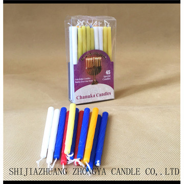 PVC+box+Wholesale+Hanukkah+candles+45pcs