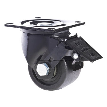 Nylon Casters with Low Center of Gravity Brake Caster