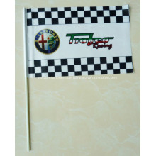 Personalisierte kunststoff hand waver flagge 100x60cm