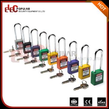 Elecpopular Zhjiang Wenzhou Long Metal Shackle Safe Lock OEM Keyed Alike Padlock