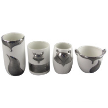 Various Styles of Fox Shape Electroplate Ceramic Jar