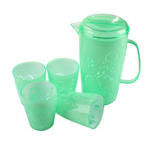 2015 jarra de plástico de alta calidad con cuatro tazas