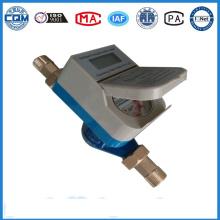 Medidor de flujo de agua inteligente con válvula de control función prepaied