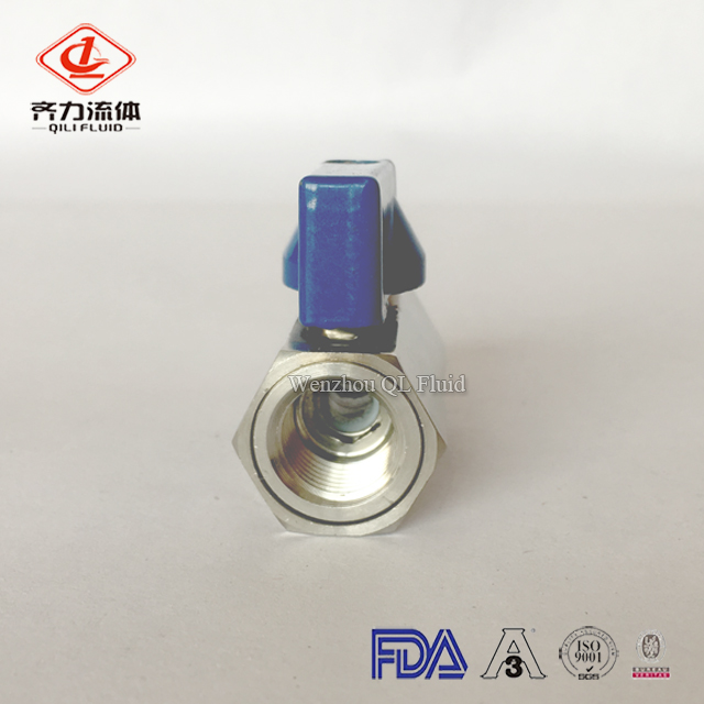 sanitary stainless steel female mini ball valve 1