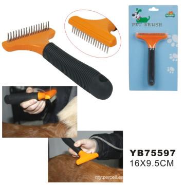 Venta al por mayor de China cepillo de mascota, perro cepillo de aseo (YB75597)
