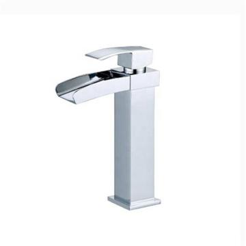 New model washbasin basin faucet single handle waterfall brass basin faucet