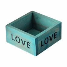 Quadratische hölzerne Blumentopf Tisch Aufbewahrungsbox Fall Quadratische hölzerne Blumentopf