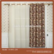 Impresso blackout Cafa cortinas desenhos com cortinas de linho cinza