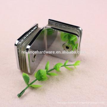 porte en verre de douche de forme matérielle en laiton de forme carrée tenant la bride de charnière