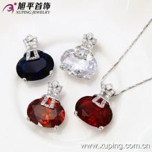Newluxury Elegant Zircon Silver Pendant