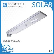 Réverbères solaires intégrés de 30W avec ce RoHS