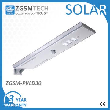 30W LED intégré tout dans un réverbère solaire
