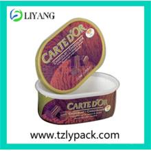 Customized Design, Iml for Plastic Ice Cream Box