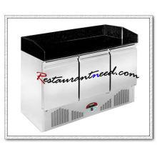 R315 3 portes station de préparation de pizza de refroidissement statique