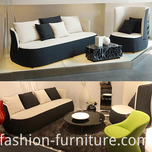 Three-seater Fabric Upholstered Sofa