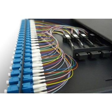 1U 24 Port Serat Optik Patch Panel ODF