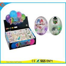 Блеск игрушки горячие продаем детский светодиодный проблесковый Сова освещение прыгающий мяч