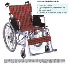 Drop Back Handle Aluminum Wheelchair
