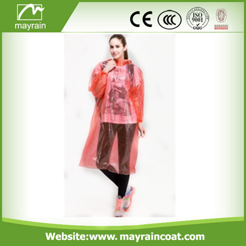 Orange PE Raincoat and Poncho