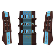Paper Display Shelf with Compartment, Pop Cardboard Display Rack