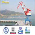 Grúa pórtico para el uso de la plataforma marina en el muelle