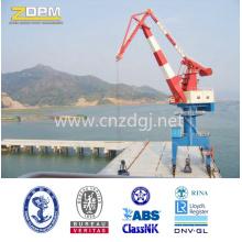 Made in China montados en riel flotante muelle puerto grúa Portal proveedor
