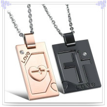 Collier pendentif en acier inoxydable en forme de bijoux (NK524)