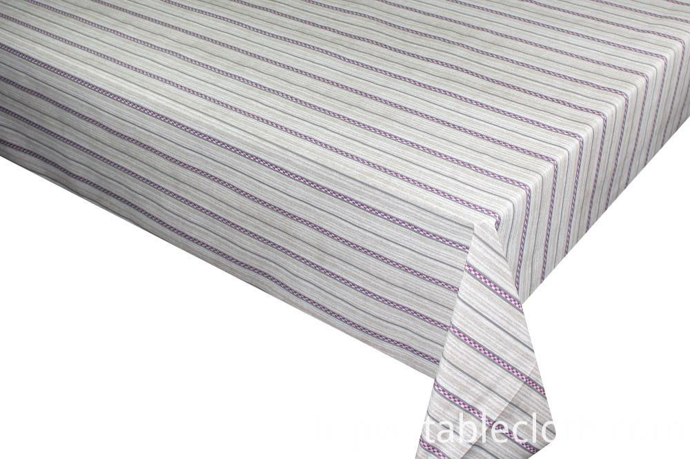Printed tablecloth with tnt backing