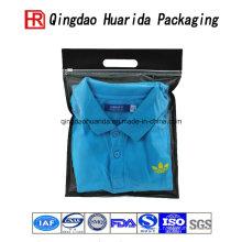 Direto da fábrica de plástico saco de embalagem de roupas de camisa curta