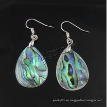 Gets.com 2015 abalone shell esmalte aleación pendientes