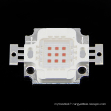 Perle menée jaune de la puissance élevée LED de la puce 6-7v 10w intégrée