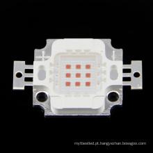 Grânulo conduzido amarelo do diodo emissor de luz do poder superior da microplaqueta 6-7v 10w