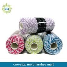Berkualiti tinggi berwarna tali membelit kapas untuk dijual