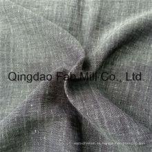 Jacquard lino / tela de lana de doble capa (QF16-2477)