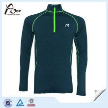 Светоотражающая печать мужские рубашки спортивный пуловер с застежкой-молнией
