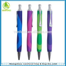 Promotion des stylo à bille en plastique avec poignée souple