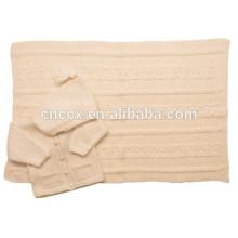 15BLT1014 bebê presentes crianças beanie cashmere cobertor rei