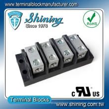 TGP-050-04BSS 600V 50A 4-poliger Power Splicer Elektrischer Terminal-Streifen