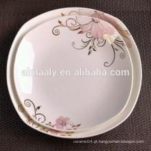 Tigela De Sopa De Porcelana E Saladeira