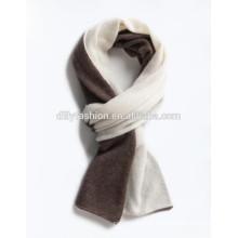 Mode gestrickte Kaschmirschal Herren doppelte Seite Farbe Schal Winter Schals